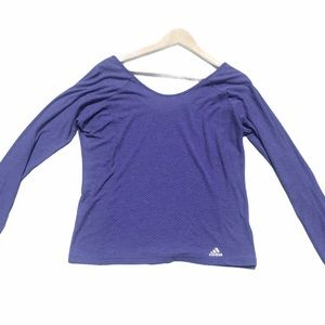 Adidas Long sleeve Mesh Scoop Neck Front/Back